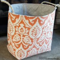 DIY Scrap Fabric Basket