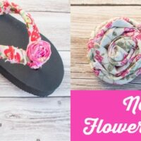 No-Sew Embellished Flower Flip Flops