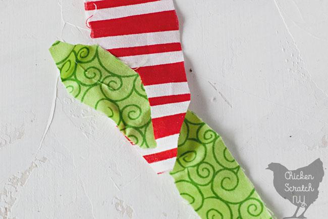 tying fabric strips for locker hook