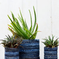 How To Make A Gorgeous Recycled Jean Planter