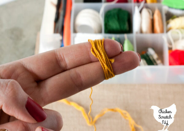 how to wind embroidery thread into a ball