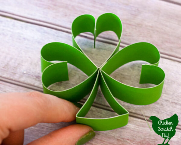 shaping shamrock stem