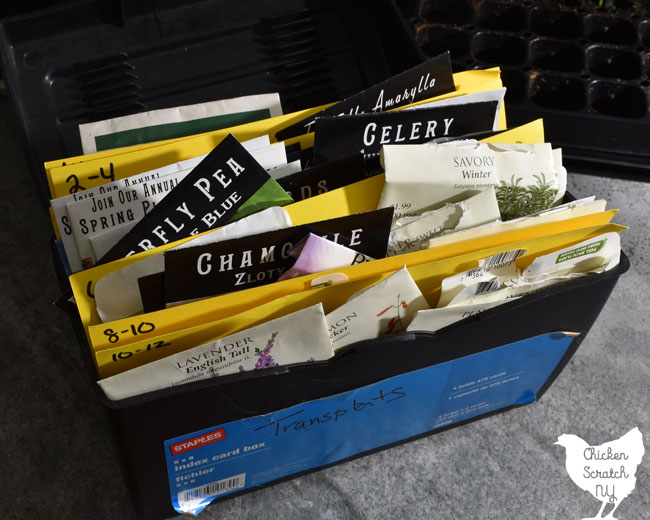 box of seeds
