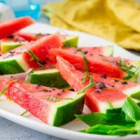 Salted Watermelon with Olive Oil and Mint | Sprinkles and Sprouts