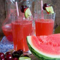 Watermelon Cherry Limeade