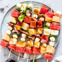 Easy Watermelon Skewers With Prosciutto {Gluten Free}