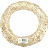 FloraCraft Straw Wreath, 18-Inch, Natural