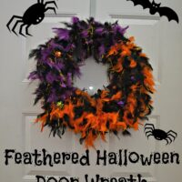 Feathered Halloween Door Wreath