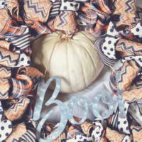 Farmhouse Inspired DIY Halloween Ribbon Wreath