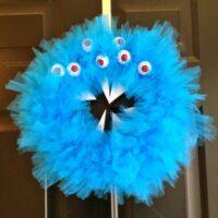 Scary Monster Halloween Wreath