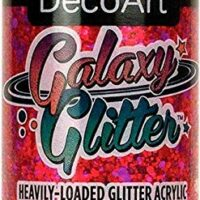 Deco Art DGG2OZ-04 DecoArt Galaxy Glitter Acrylic Paint 2oz-Nebula-Red