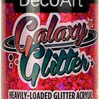 Deco Art DGG2OZ-04 DecoArt Galaxy Glitter Acrylic Paint 2oz-Nebula-Red