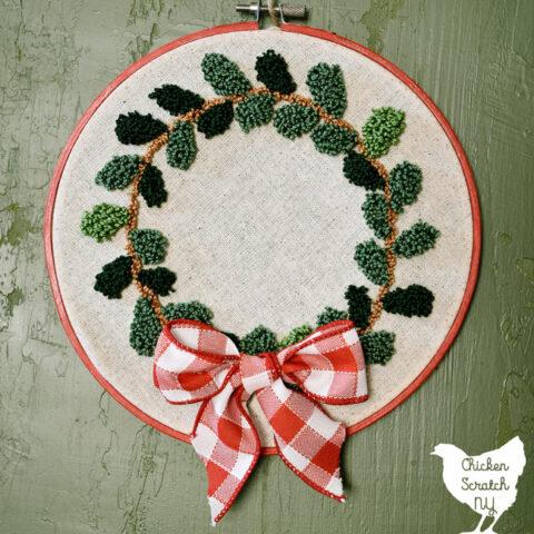 Punch Needle Wreath