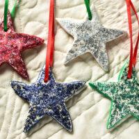 Painted Salt Dough Ornaments
