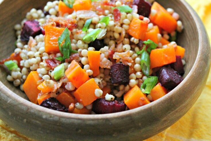 Bacon, Beet, and Butternut Squash Sorghum Salad