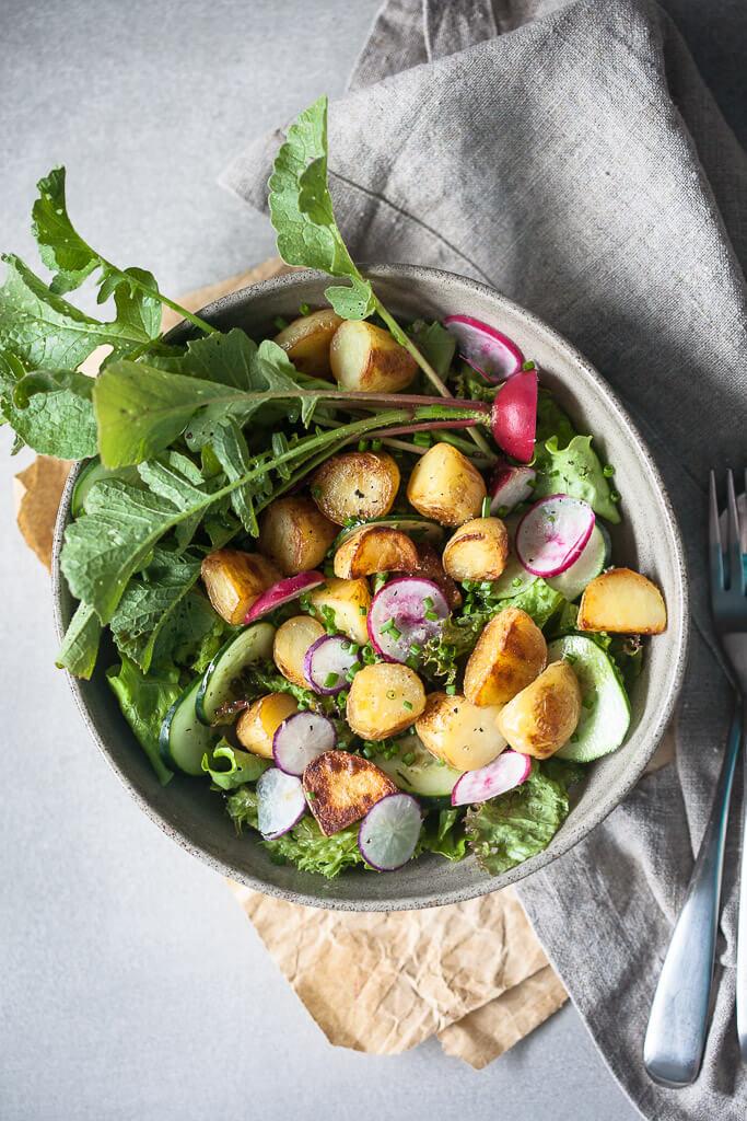 Spring Potato Salad with Balsamic Vinaigrette {Vegan}