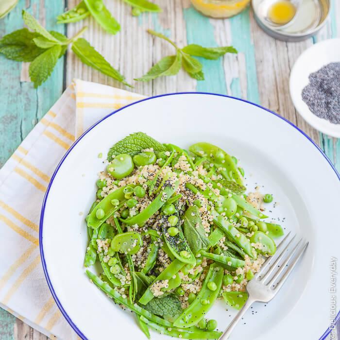Green Spring Salad with Quinoa | Vegan