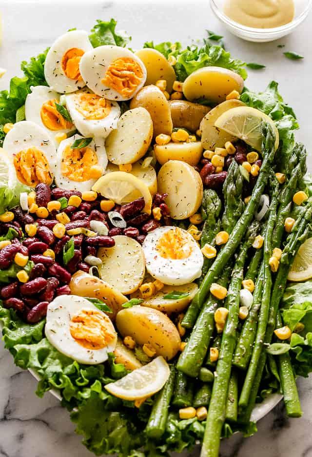 Spring Vegetable Potato Salad with Lemon Dijon Vinaigrette