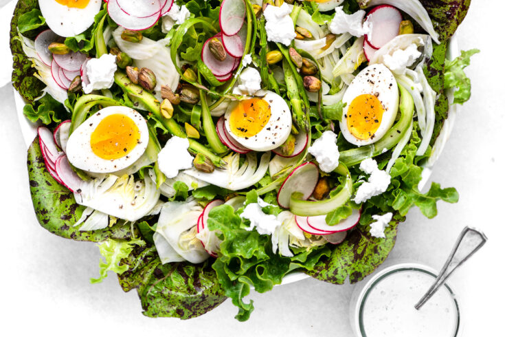 Spring Salad with Eggs and Creamy Tarragon Dressing
