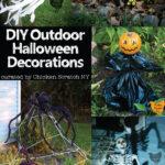 variety of DIY outdoor Halloween decorations