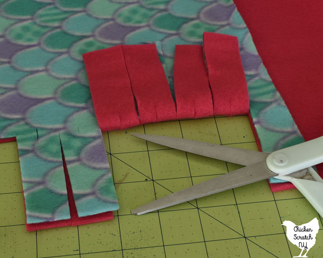 cut a notch in each pair of strips
