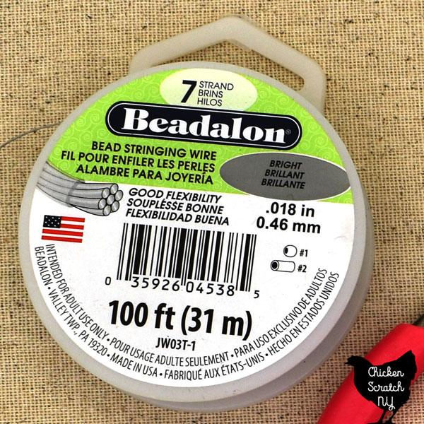 spool of beadalon 7 wire
