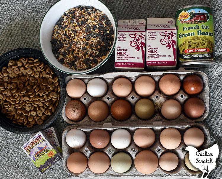 egg loaf chicken snack ingredients