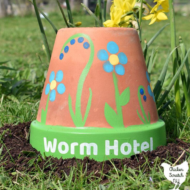 Worm Hotel Garden Art