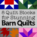computer generated images of quilt blocks used for barn quilts