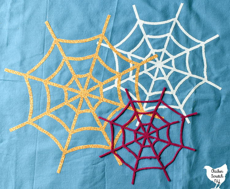 3 different spiderwebs cut from clip art traced in silhouette studio with a silhouette cameo 4 plus