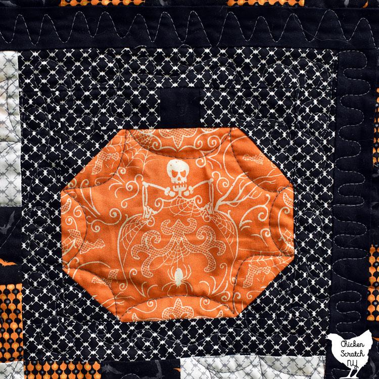 Halloween fabric pumpkin blocks