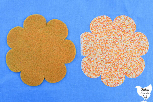 one felt and one cotton flower cut with a silhouette cameo 4