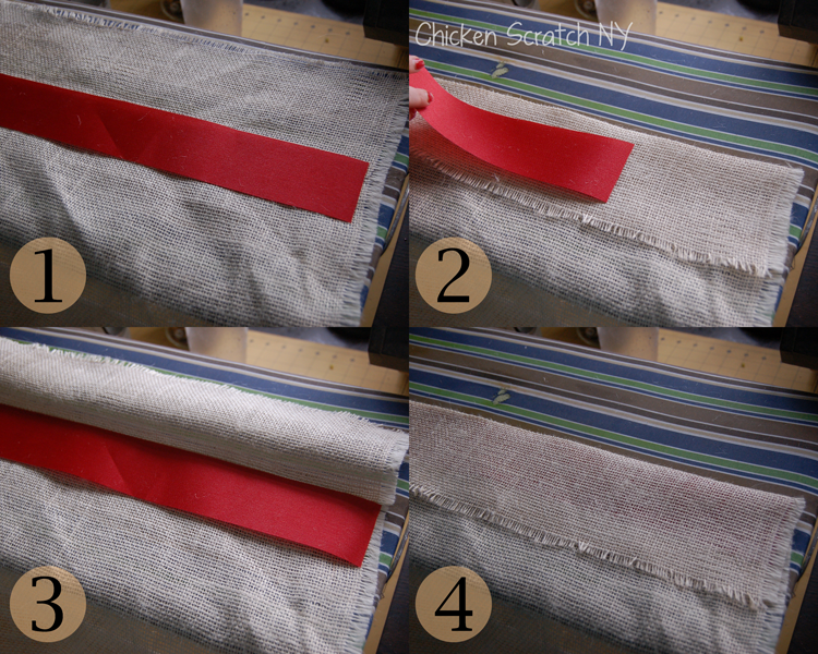 floor length burlap curtains